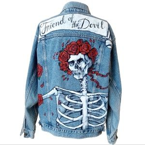 Vintage Levi's Hand painted Grateful Dead Jacket